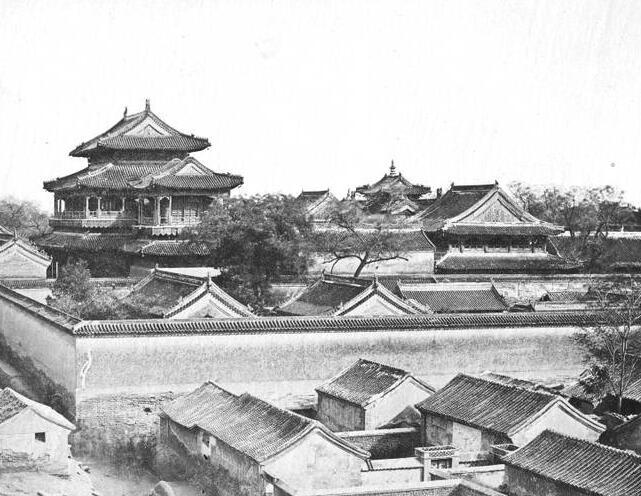 老照片:1860年的北京,火烧前的圆明园